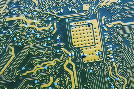 extreme close up: Circuit Board. Extreme close up. current track circuits