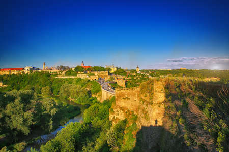 firmeza: medieval castle in Kamenetz-Podolsk. Ukraine. general form