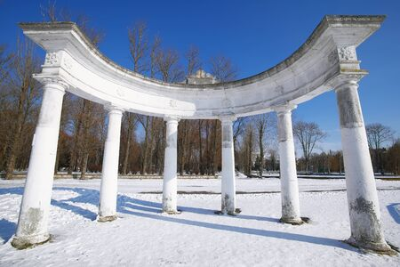 Arch in Winter Park. Dramatic blue sky