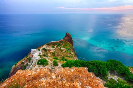 Sea landscape. Sea view. Mountains surround the bay. Fiolent , Crimea Reklamní fotografie