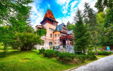 Pelisor castle summer residence in Sinaia, part of the complex as Peles castle. Sinaia, Prahova County, Romania Editorial