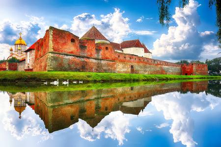 Scenery with middle ages Fagaras Citadel built in Transylvania built in XVth century. Fagaras , Transylvania. Romania