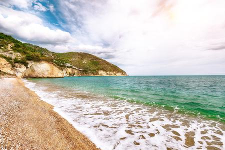Vignanotica beach on the coast of Gargano National park. The most beautiful coasts of Italy. Puglia, Italy Reklamní fotografie