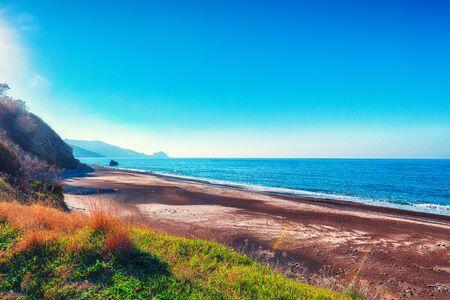 Fantastic view of beach Torre Conca (cape Rais Gerbi). Sunny scene. Location Pollina. Tyrrhenian sea. Sicilia, Italy, Europe