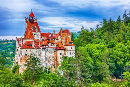 The medieval Castle of Bran known for the myth of Dracula. Brasov Transylvania. Romania. Europe