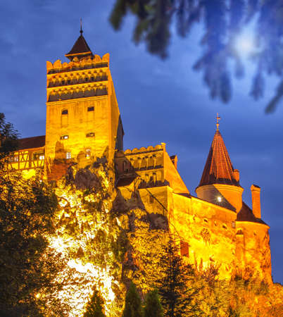 The medieval Castle of Bran known for the myth of Dracula. Bran or Dracula Castle in Transylvania, Romania.