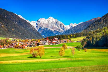 Scenic image of alpine village Rasun Anterselva. Location: Rasun Anterselva, Bolzano, South Tyrol, Italy, Europe. Archivio Fotografico