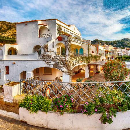 Fabulous view of Poltu Quatu town on Costa Smeralda. Popular travel destination of Mediterranean sea. Location: Poltu Quatu, Province of Sassari, Sardinia, Italy, Europe