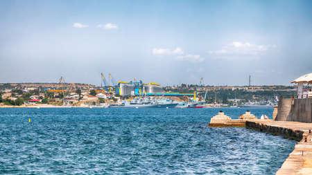 Navy warships at the Bay of Sevastopol. Crimea