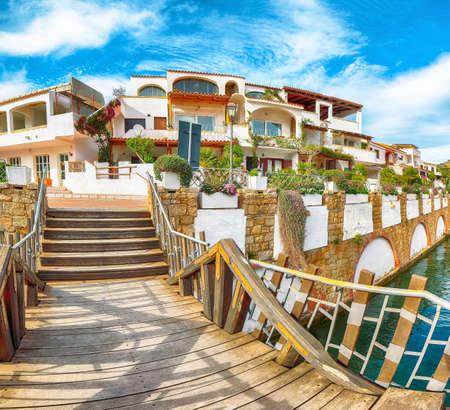 Enchanting view of Poltu Quatu town on Costa Smeralda. Popular travel destination of Mediterranean sea. Location: Poltu Quatu, Province of Sassari, Sardinia, Italy, Europe