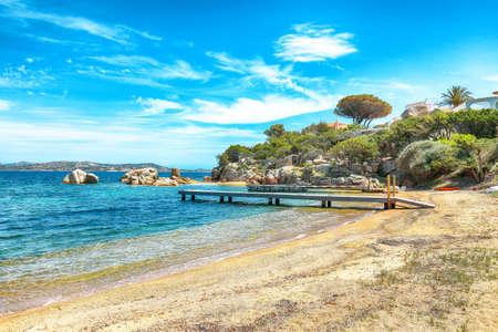 Captivating view of beach on Porto Rafael resort. Picturesque seascape of Mediterranean sea. Location: Porto Rafael, Olbia Tempio province, Sardinia, Italy, Europe