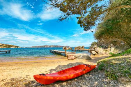 Astonishing view of beach on Porto Rafael resort. Picturesque seascape of Mediterranean sea. Location: Porto Rafael, Olbia Tempio province, Sardinia, Italy, Europe Archivio Fotografico