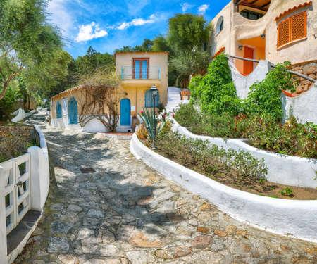 Astonishing view of Porto Rafael resort. Picturesque houses of Sardinia. Location: Porto Rafael, Olbia Tempio province, Sardinia, Italy, Europe Archivio Fotografico