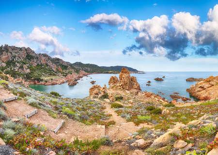 Fantastic view of popular travel destination Costa Paradiso. Picturesque landcape of Mediterranean sea. Location: Costa Paradiso, Province of Sassari, Sardinia, Italy, Europe