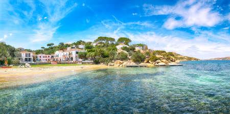 Astonishing view of beach on Porto Rafael resort. Picturesque seascape of Mediterranean sea. Location: Porto Rafael, Olbia Tempio province, Sardinia, Italy, Europe