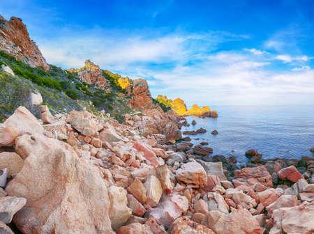 Fabulous view of popular travel destination Costa Paradiso. Picturesque landcape of Mediterranean sea. Location: Costa Paradiso, Province of Sassari, Sardinia, Italy, Europe