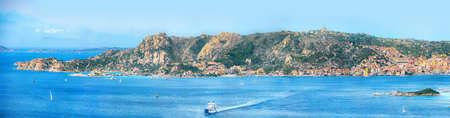 Fabulous view on Santo Stefano and La Maddalena islands from Palau. Location: Palau, Province of Olbia-Tempio, Sardinia, Italy, Europe