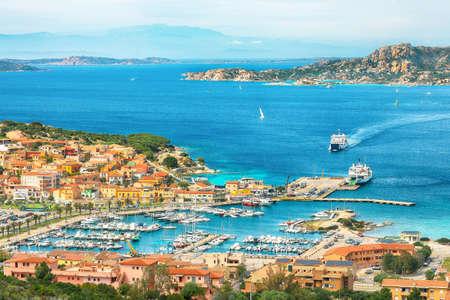 Fantastic view on Palau port and La Maddalena island. Location: Palau, Province of Olbia-Tempio, Sardinia, Italy, Europe