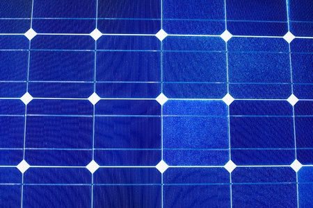 Pattern of solar cell wafers in photovoltaic solar panel. photo
