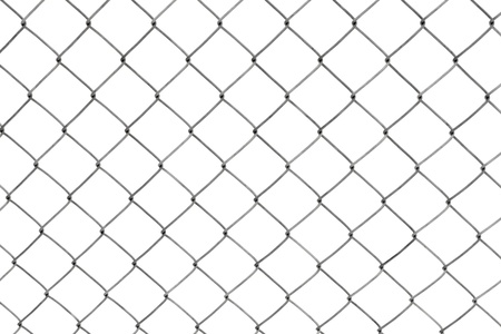 Chainlink fencing background texture pattern isolated on white background Stock Photo - 8636481