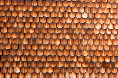 transience: Wooden Shingles of wall siding of historic Black Forest farmhouse, Germany, Europe