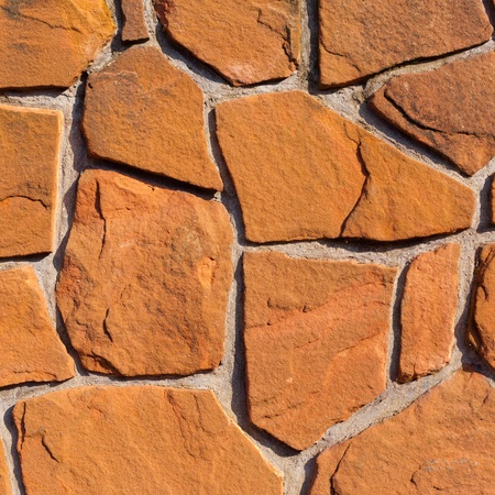 Rough sandstone and mortar wall background texture pattern. Stock Photo - 8836052