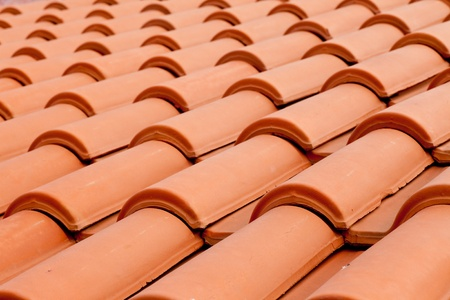 Background Texture Pattern Of Red Ceramic Roof Shingles Stock Photo    9360441
