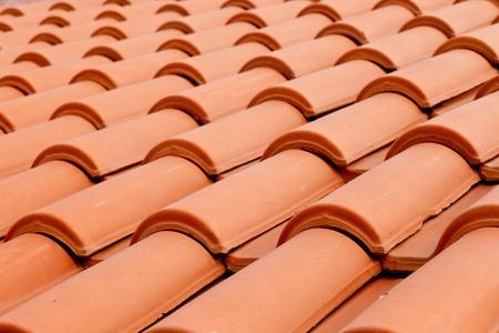 Hintergrund Textur Muster rote Keramik Dach Schindeln