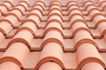 tejas: Patr�n de textura de fondo de Tejas del techo de cer�mica Roja