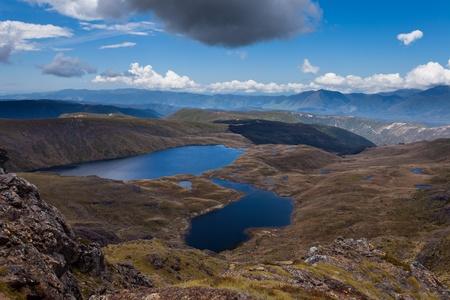 sylvester: Sylvester Lakes in Tasman Mountains of Kahurangi National Park, South Island of New Zealand Stock Photo