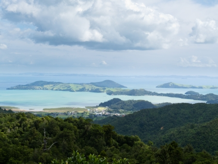 Beautiful coastal landscape of Coromandel Peninsula, North Island, New Zealand photo