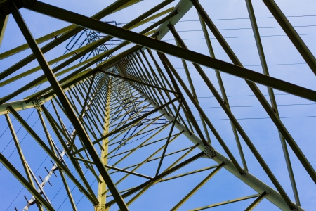 Steel structure of pylon of high voltage electric power transmission line. Imagens