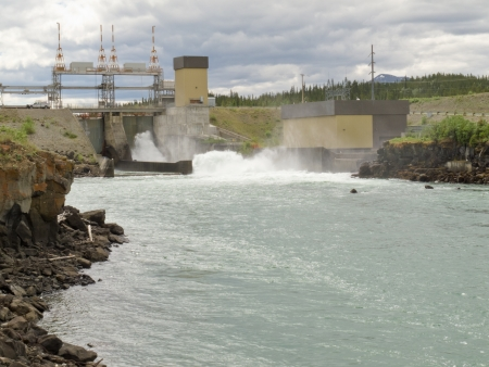 whitehorse: Small scale hydro-electric power station in Whitehorse, Yukon Territory, Yukon