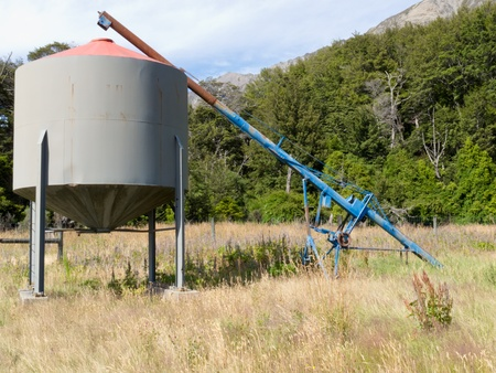 Metal fodder fermenting silo storage tank Stock Photo - 14333936