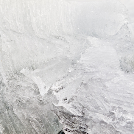 disintegrate: Background texture pattern of disintegrating candelized melting ice Stock Photo