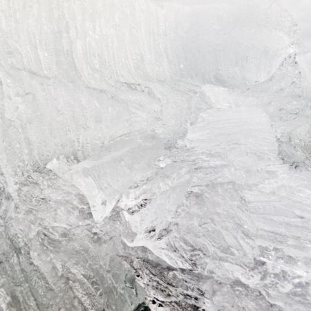 disintegrating: Background texture pattern of disintegrating candelized melting ice Stock Photo