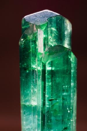 Rare rough unpolished green turmaline gemstone  Found in Pakistan  Birthstone for October  Stock Photo - 16980222