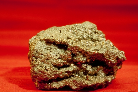 raw gold: Pyrite ironsulfide fools gold mineral crystal rock