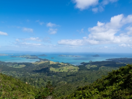 Scenic coastline seascape of Coromandel Peninsula  North Island of New Zealand photo