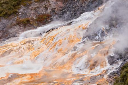 Geothermal hot water spring in Orakei Korako geothermal wonderland just south of Rotorua, North Island of New Zealand