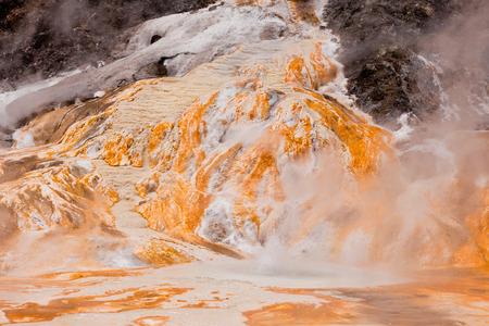 water spring: Geothermal hot water spring in Orakei Korako geothermal wonderland just south of Rotorua, North Island of New Zealand