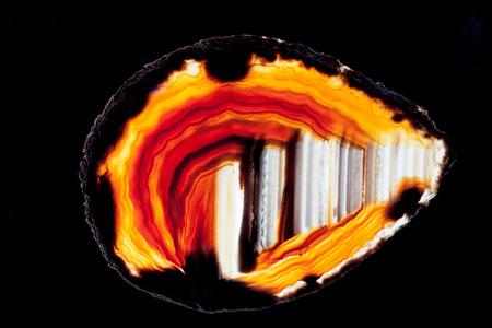silica: Fetta di agata, che � una variet� microcristallina di quarzo, silice. Agata � una pietra potere per scopi curativi. Archivio Fotografico
