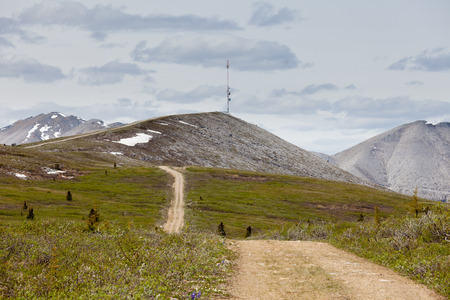 geological: Telecommunication tower in northern Rocky Mountains, British Coumbia, Canada