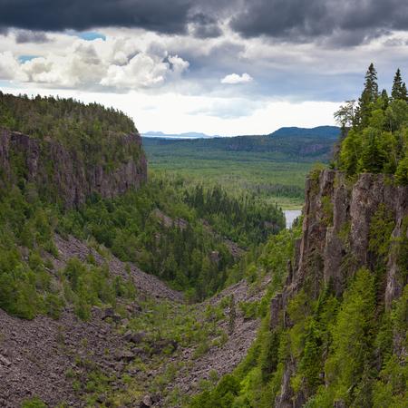 boreal: Quimet Canyon boreal forest taiga wilderness near Lake Superior, Ontario Canada