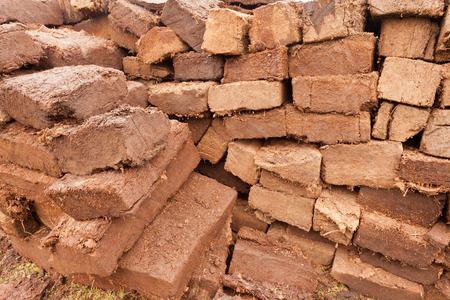 turba: Antecedentes modelo abstracto de la pila de secado apilados esquejes de briquetas turbera de césped
