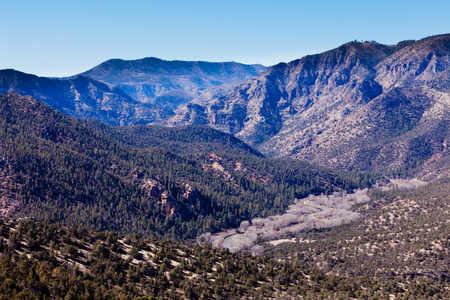 nm: Gila River valley wilderness landscape in Gila Mountains National Forest, New Mexico, NM, US Stock Photo