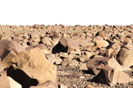 desolate: Desolate Martian landscape barren and empty except for rocks to the horizon