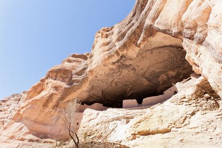 dwellings: Gila Cliff Dwellings historic native American Mogollon culture architecture in Glia Cliff Dwellings National Monument New Mexico NM US