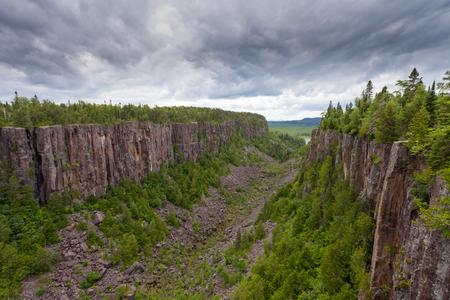 boreal: Quimet Canyon boreal forest landscape scenery near Lake Superior, Ontario Canada