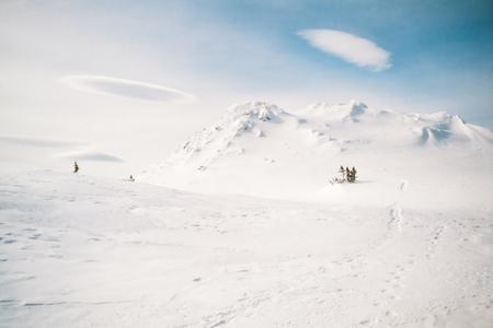yukon territory: Approaching blizzard in Red Range Mountains, Yukon Territory, Canada Stock Photo